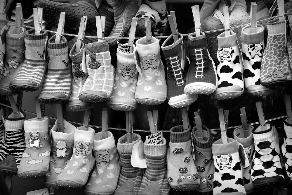 photoblog image Shoes on a string