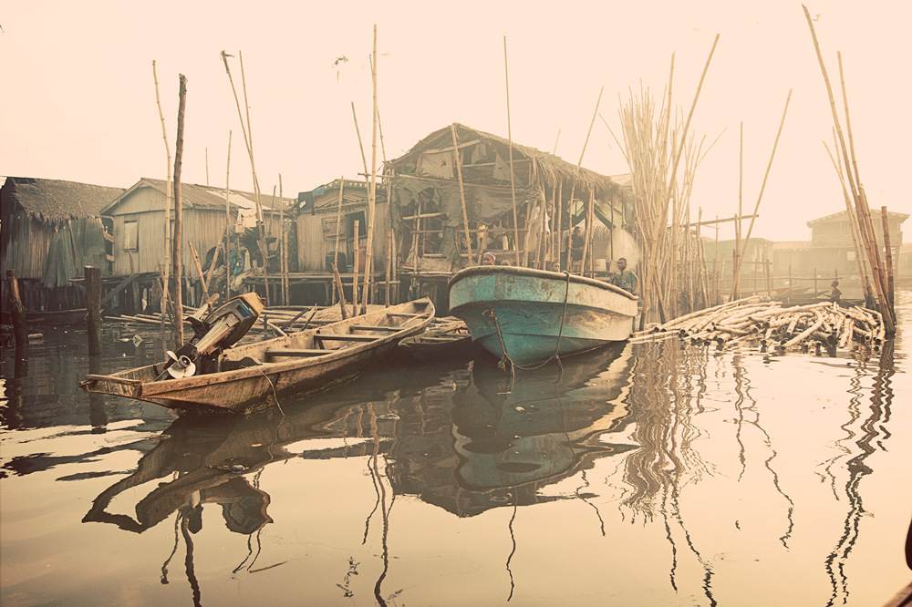 photoblog image Boats docked, Makoko
