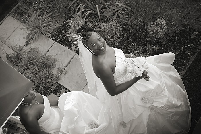 photoblog image B/W wedding moments #1